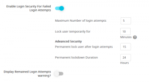ARMember_security_option