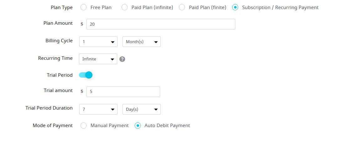 ARMember Stripe-plan Settings ( Payment Gateways )