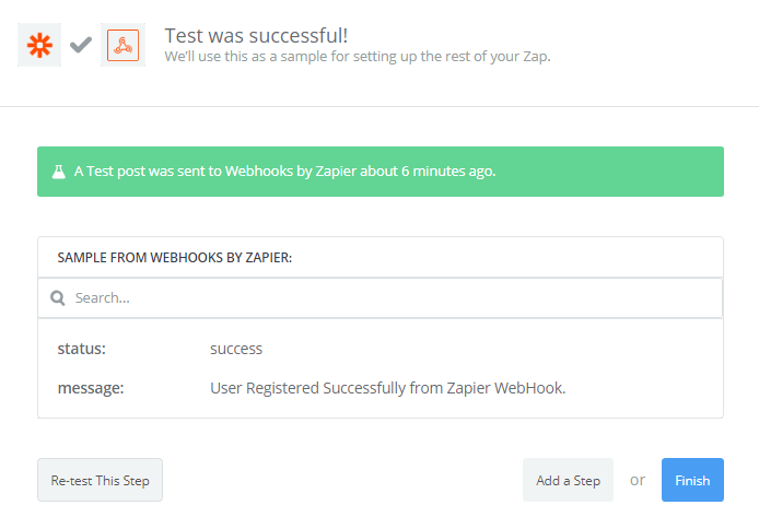 Webhook Test successfully