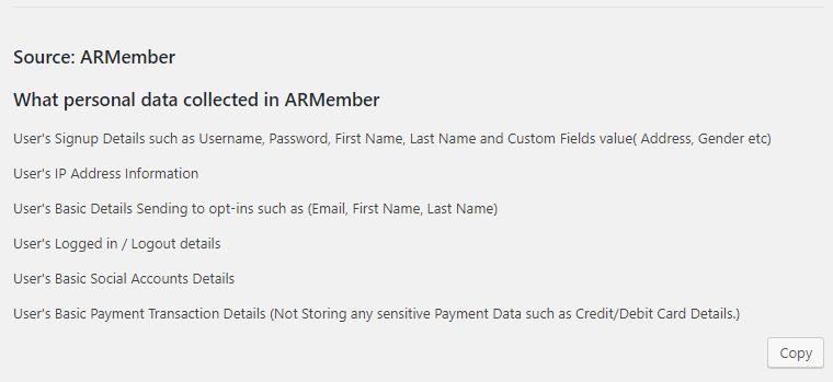 ARMember GDPR - Guide Lines