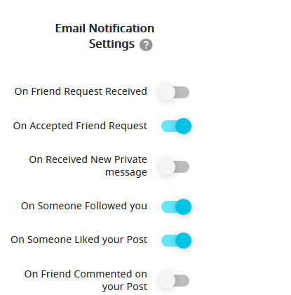 email notifications