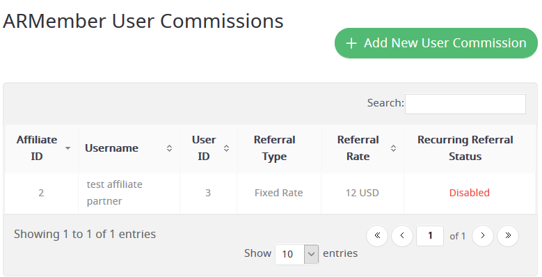 add user commission