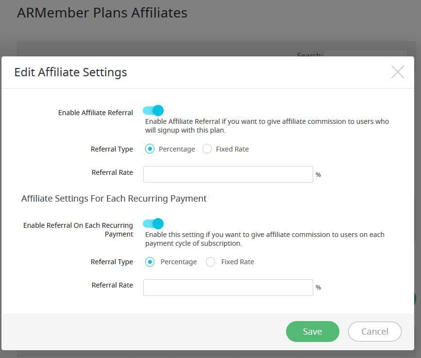 armember affiliate plans