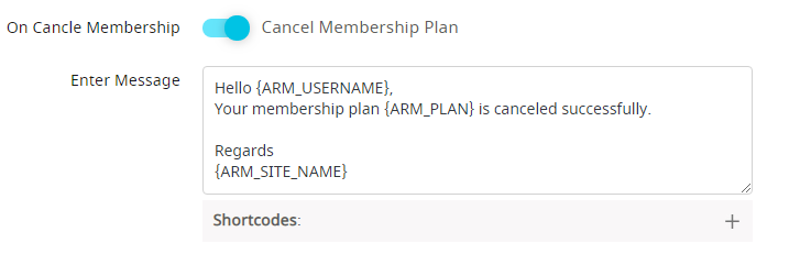 Notification on plan cancel
