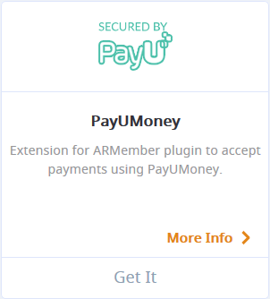 ARMember PayUmoney payment Gateway Addon