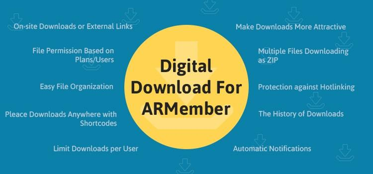 ARMember - Digital Download Addon