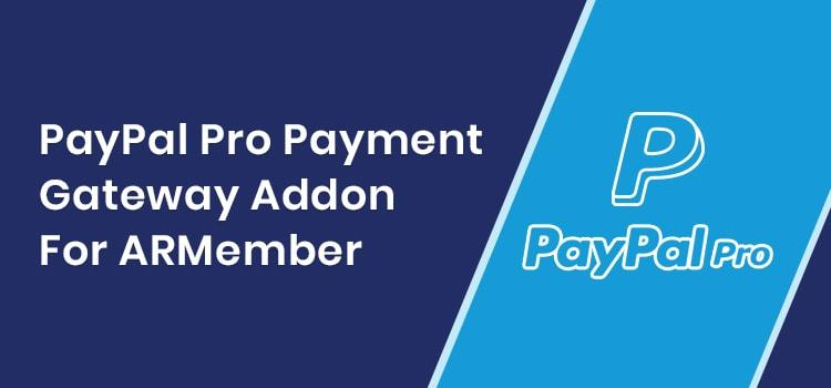 ARMember - PayPal Pro Addon