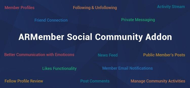 ARMember - Social Community Addon