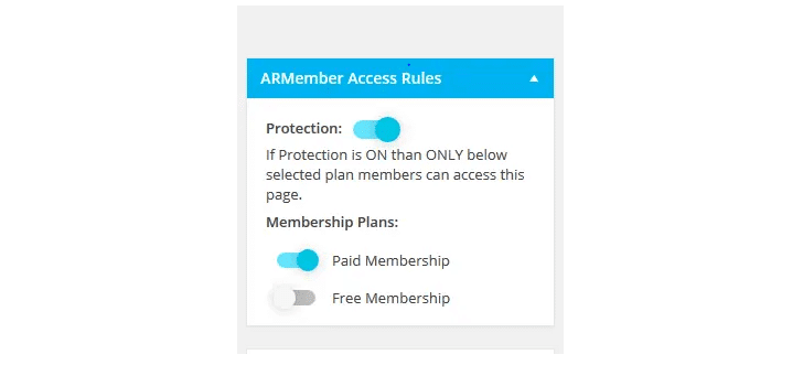 ARMember content protection