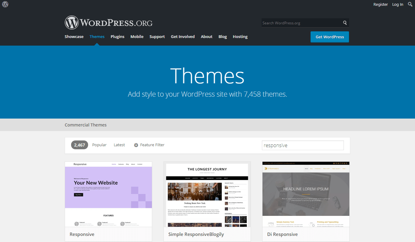 wordpress.org responsive themes