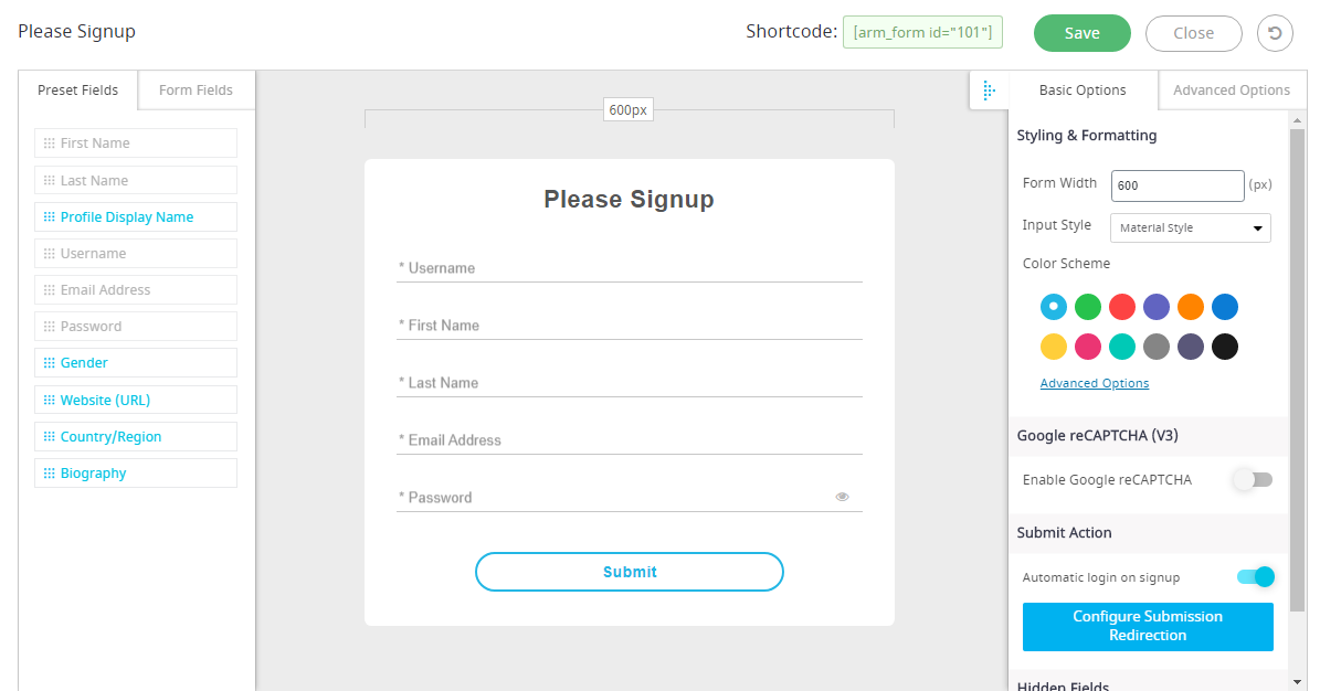 armember_registration_form_example