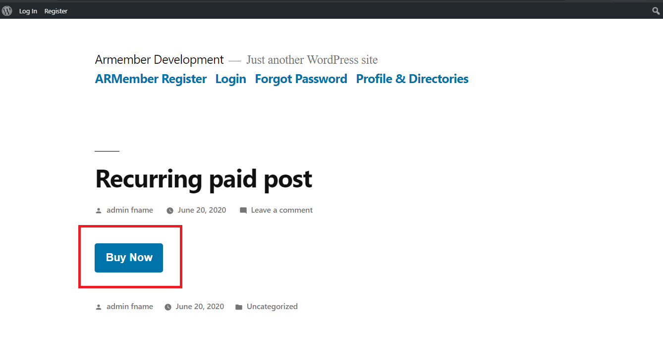 ARMember Paid Post at Front-End side