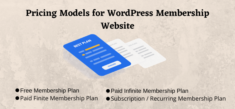pricing model for membership website