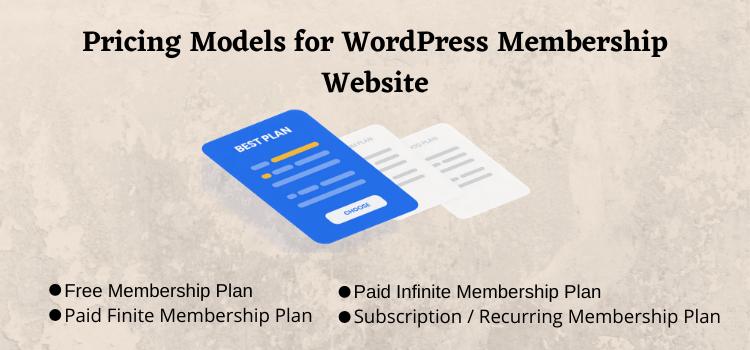 pricing model for membership website