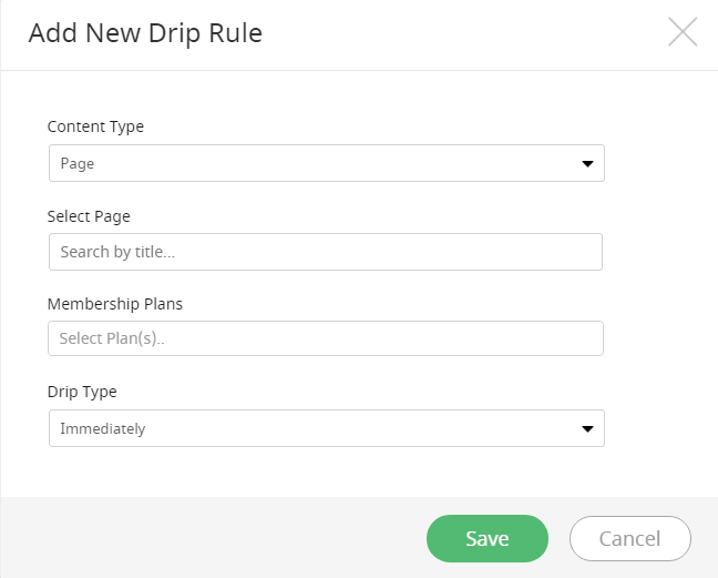 Add New Drip Rule