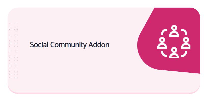 Social Community Addon