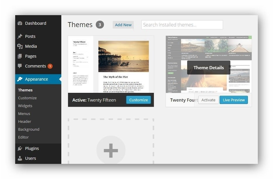 WordPress theme Live Preview must do before changing themes