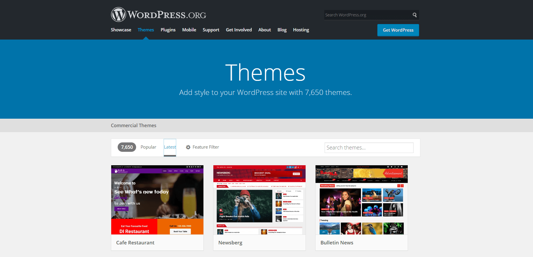Wordpressorg themes must do before changing themes