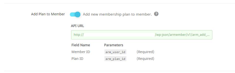 API Service Add Plan to Member