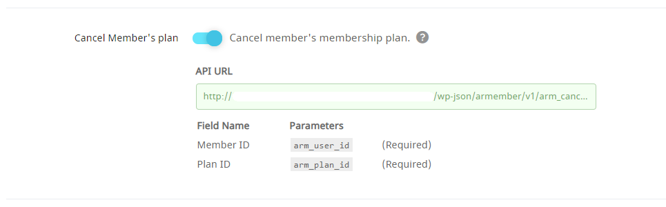 API Service Cancel Member's plan