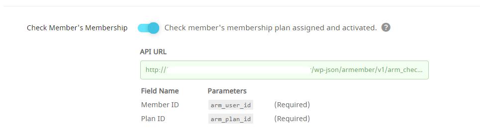 API Service Check Member's Membership