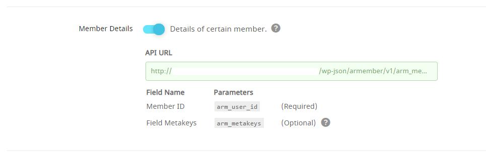 API Service Member's detail