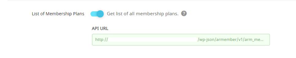 API Service Membership Plan List
